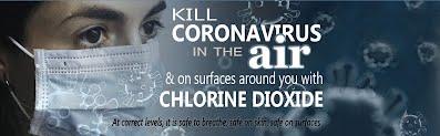 Chlorine dioxide disinfectant for COVID-19 aerosols